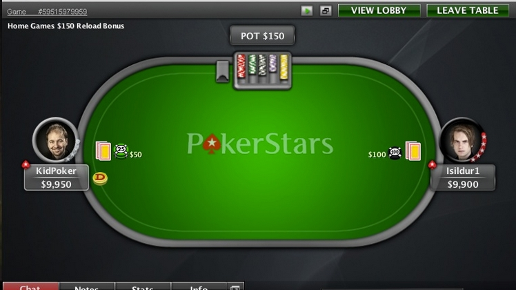 Superstar Showdown #6, Isildur1 mène une manche à 0 contre Negreanu