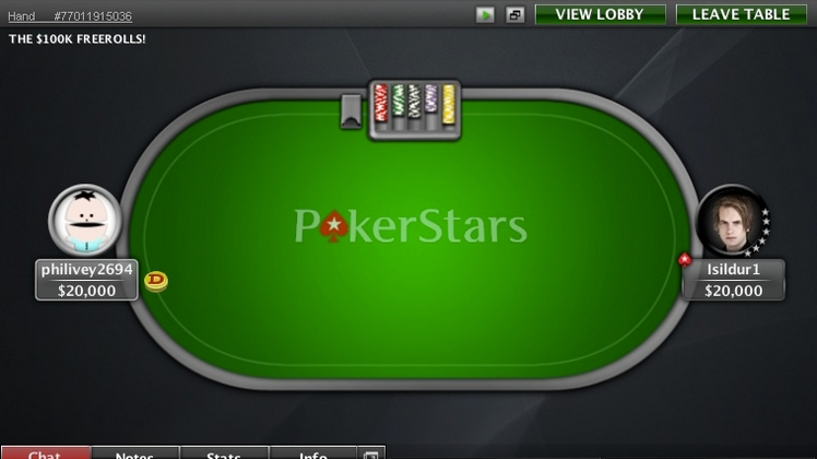 Le SuperStar Showdown d'Isildur1 de retour contre philivey2694