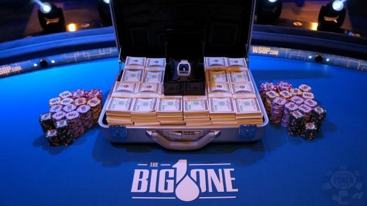 Big One For One Drop, la table finale avec Laliberté, Hellmuth, Trickett et Esfandiari