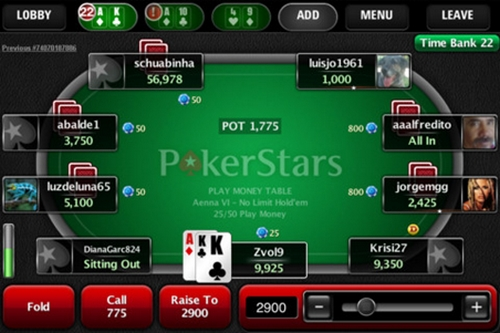 Appli iPad Pokerstars