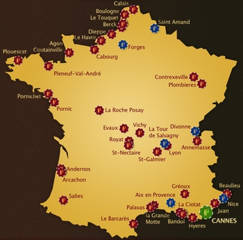 Carte des casinos