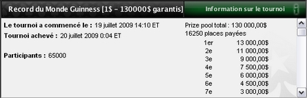 Record du monde de Pokerstars