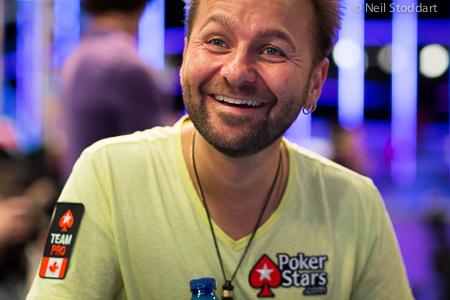 Daniel Negreanu, souriant
