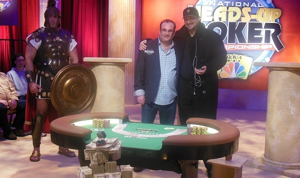 Mike Matusow et Phil Hellmuth en finale du NBC Head's Up Poker Championship