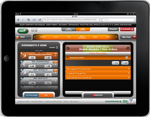 PMU Mobile paris sportifs sur iPad