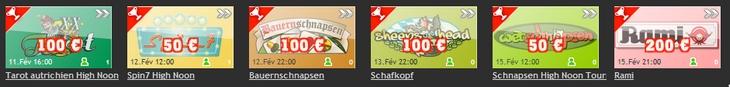 Tournois sur les sites de jeux