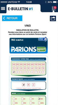 Parions Sport sur iPhone