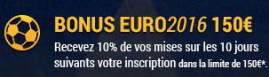 Bonus Euro 2016 150 €