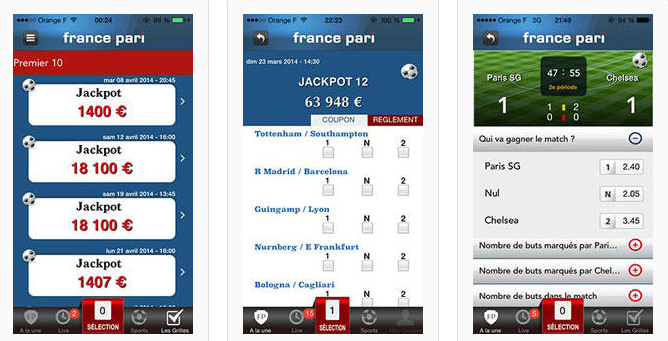 Aplikasi seluler Prancis Pari