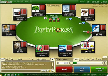 party-poker table de jeu