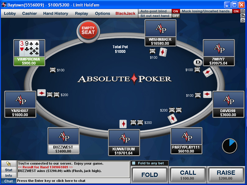 Triche absolute poker