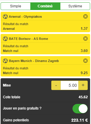 Coupon freebets Unibet