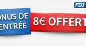 La FDJ offre 8 euros pour jouer