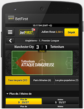 Application mobile Betfirst