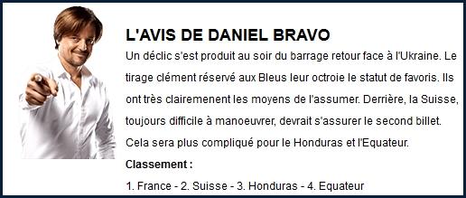 L'avis de Daniel Bravo