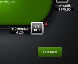 sit out poker