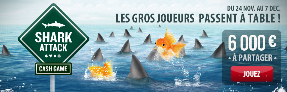 Shark attack sur Everest Poker