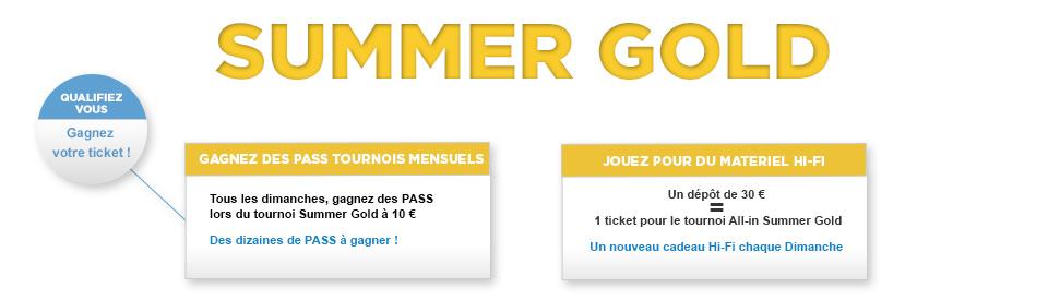 Summer Gold gagner Pass ou Cadeau Hi-Tech
