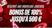Code bonus Pokerstars octobre  2021 : 500€ ou 15€ dont 10€ cash